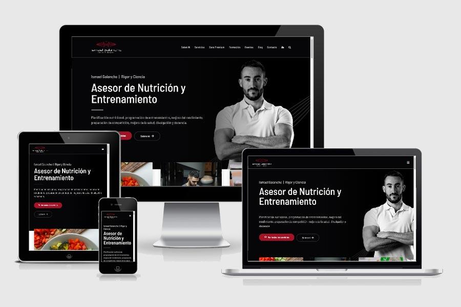 Diseño web para Ismael Galancho